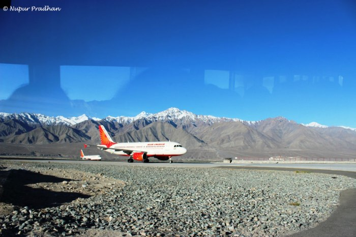 My Introduction to Ladakh was at this airport. Bang in the middle of Himalayas