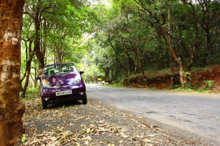 My Nano Twist on way to her first trip to Goa