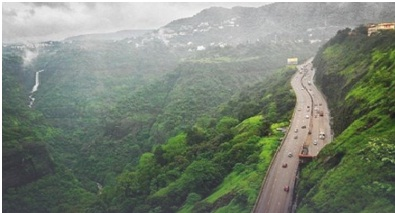 Scenic view of the Pune-Mumbai expressway at Khandala