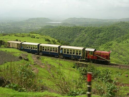 Matheran's famous Toy Train that will take you up the hill