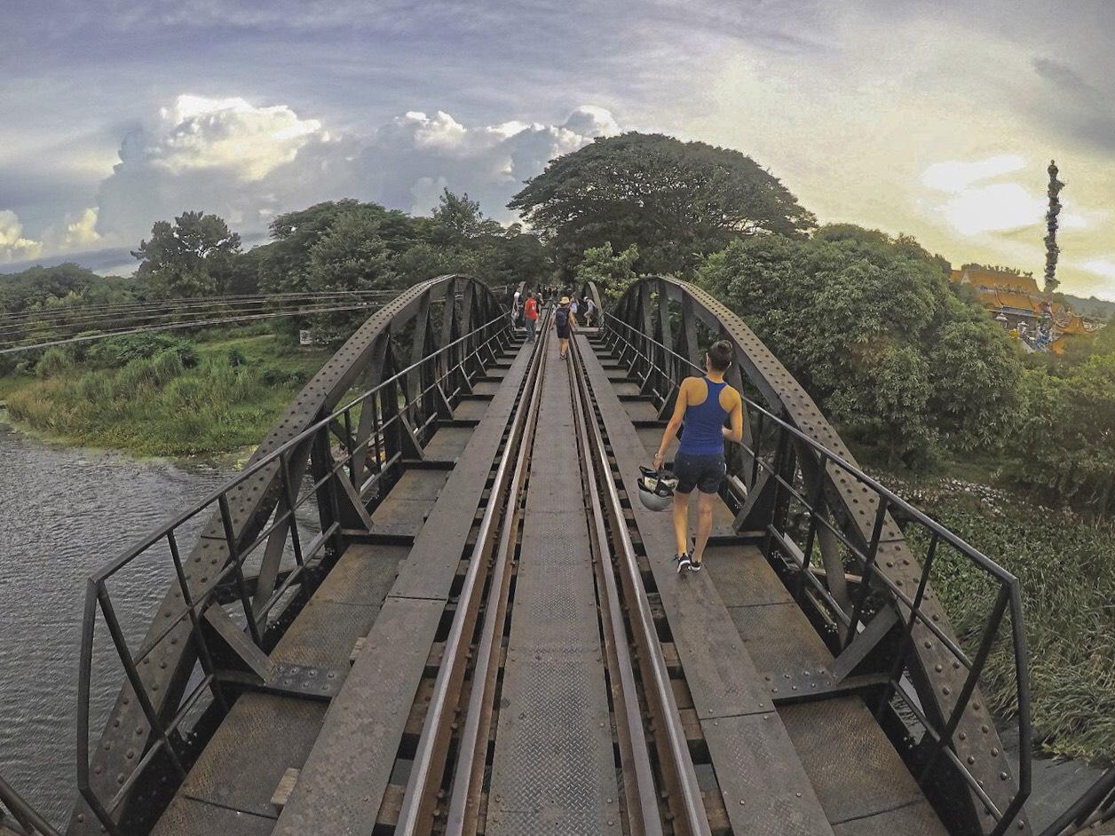 Walking on the River Kwai bridge