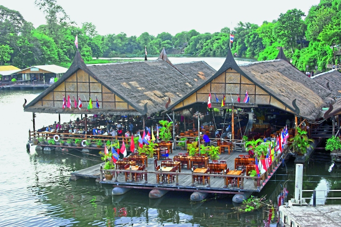 The Floating Restaurant on the river provides a scenic and panoramic view of the Bridge